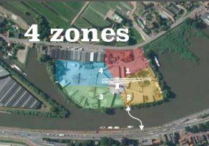 Vier zones GA